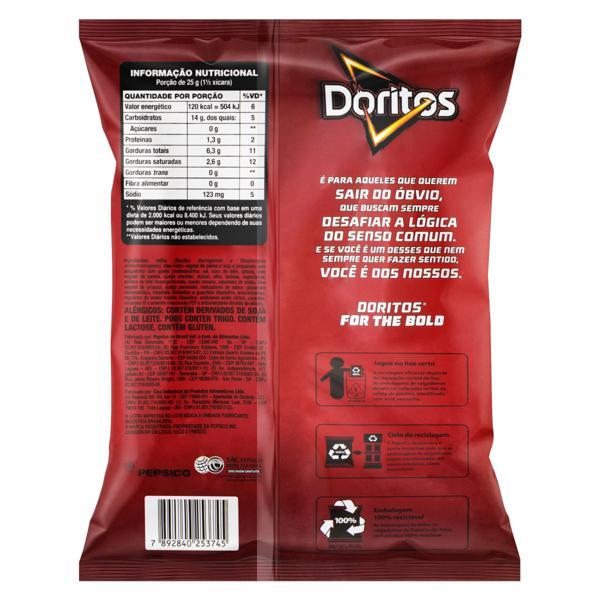 Salgadinho de Milho Queijo Nacho Doritos Pacote 55g
