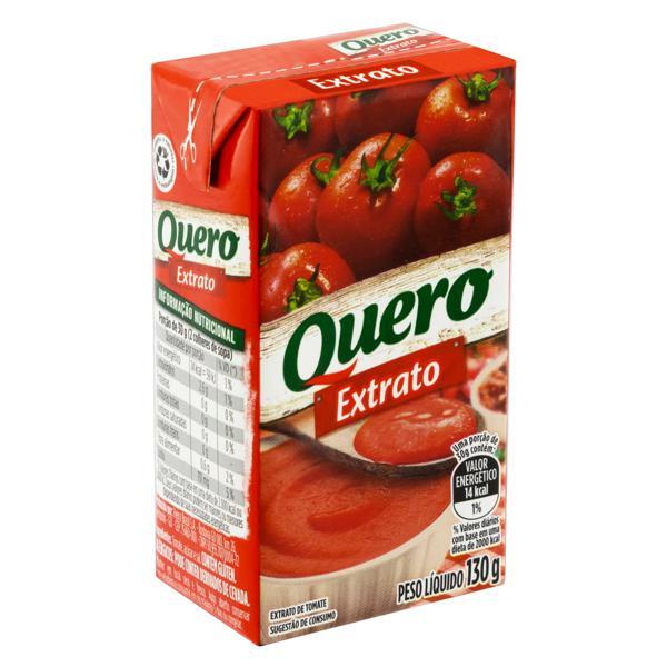 Extrato de Tomate Quero Caixa 130g