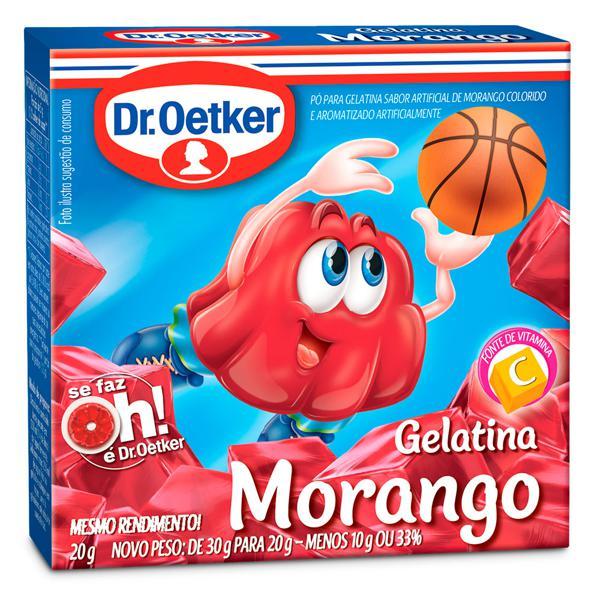 Gelatina de Morango DR.OETKER 20g