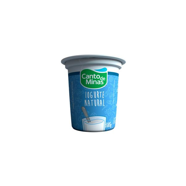 Iogurte Canto De Minas Natural Integral 180Gr