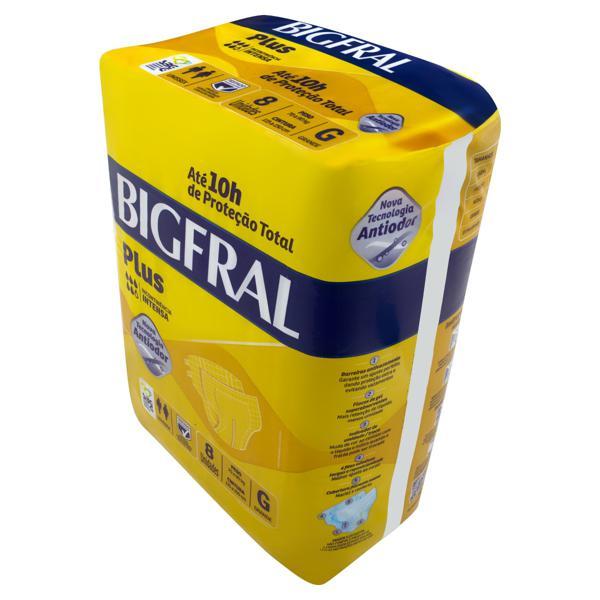 Fralda Descartável Adulto Bigfral Plus G Pacote 8 Unidades