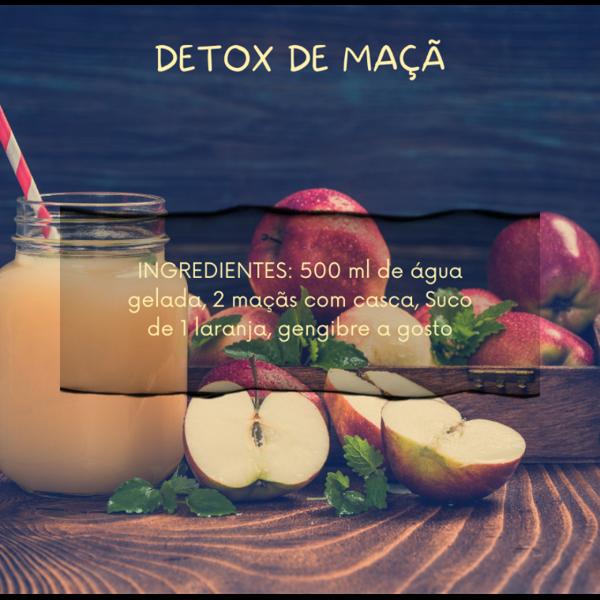 Suco detox de maçã