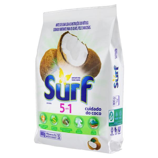 Lava-Roupas em Pó 5 em 1 Cuidado do Coco Surf Pacote 800g