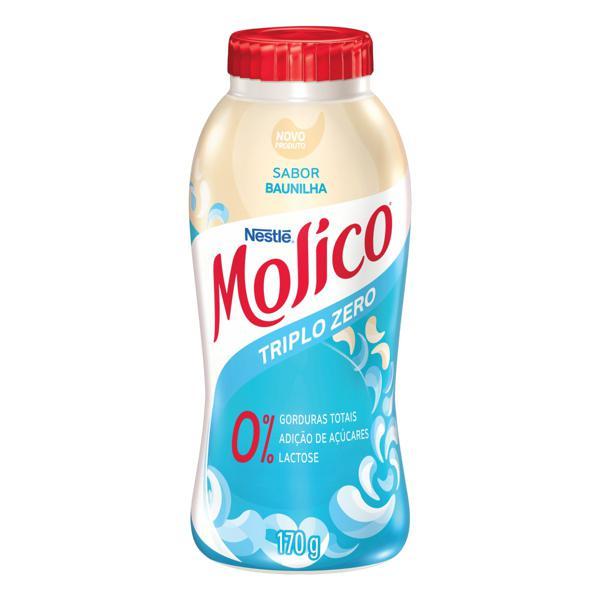 Iogurte Desnatado Baunilha Zero Lactose Nestlé Molico Frasco 170g
