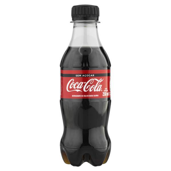 Refrigerante sem Açúcar Coca-Cola Garrafa 250ml