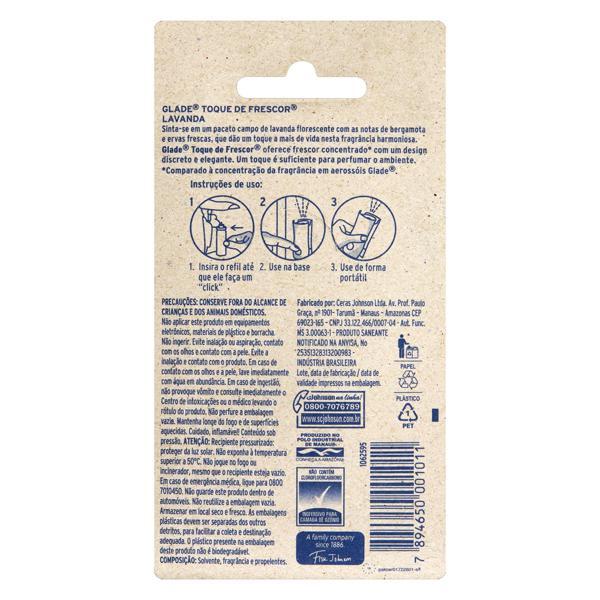 Odorizador de Ambiente Lavanda Glade Toque de Frescor Blister 12ml Refil