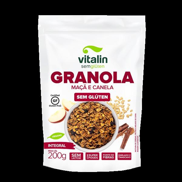 Granola Maça e Canela ( 200g) sem gluten vegano