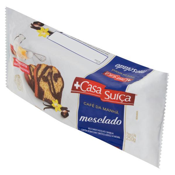Bolo Mesclado Chocolate e Baunilha Casa Suíça Pacote 250g