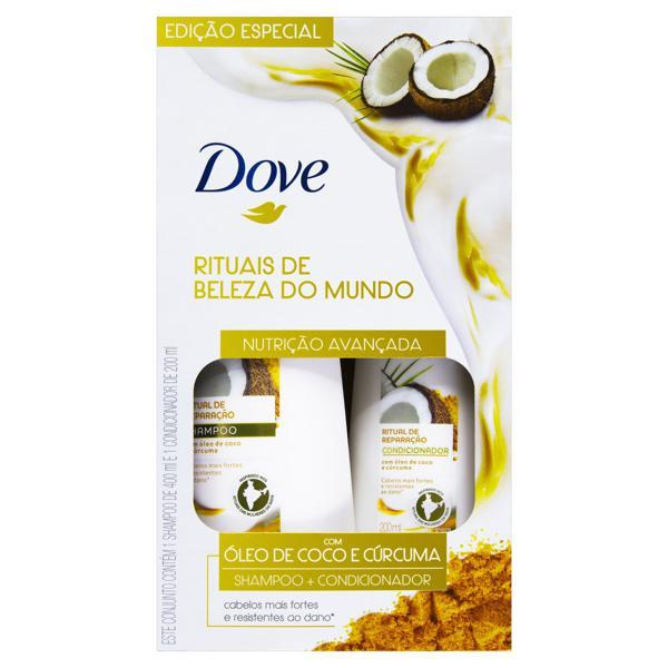Kit Shampoo 400ml + Condicionador 200ml Dove Nutritive Secrets Ritual de Reparação