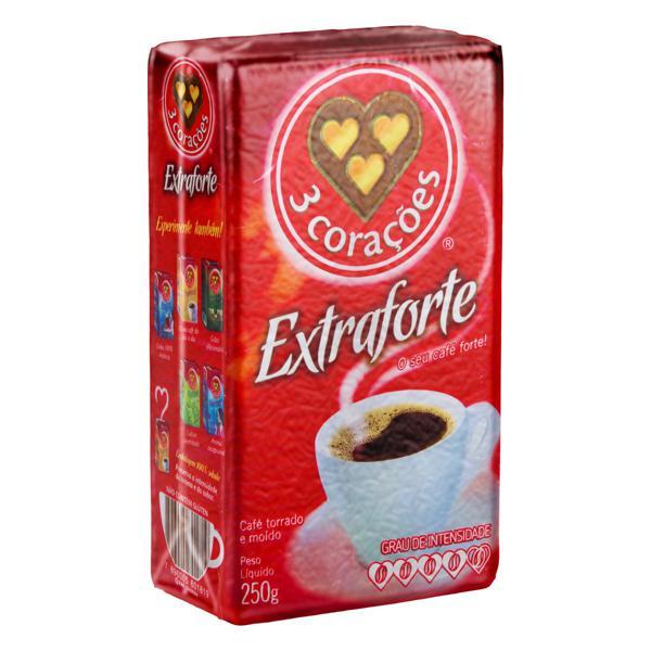 Café Torrado e Moído a Vácuo Extraforte 3 Corações Pacote 250g