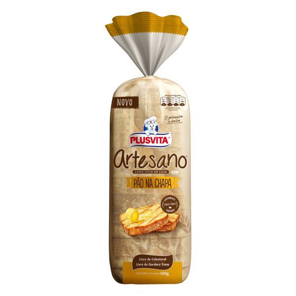 Pão de Forma na Chapa Plusvita Artesano Pacote 500g