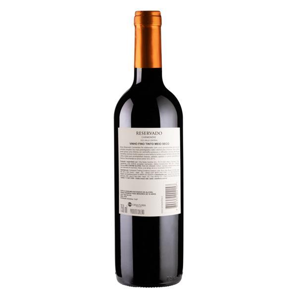 Vinho Chileno Tinto Meio Seco Reservado Santa Carolina Carménère Valle Central Garrafa 750ml