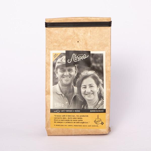 Café produtores D. Aparecida e Sr. Laerte, Torrado e Moído 250g - Café Abraço