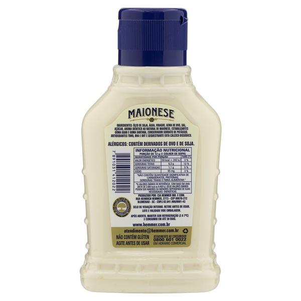 Maionese Tradicional Zero Lactose Hemmer Squeeze 290g