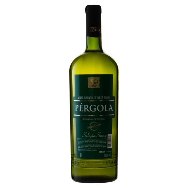 Vinho Brasileiro Branco Suave  Pérgola Bordô Isabel Serra Gaúcha Garrafa 1l