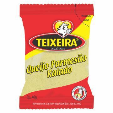 Queijo Parmesão Ralado Teixeira Pacote 40g