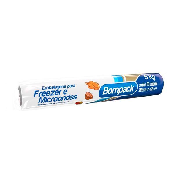 Saco Plástico BOMPACK Freezer 5Kg 28CMX42CM Com 50 Unidades