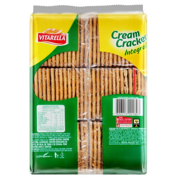 Biscoito Cream Cracker Integral Vitarella Pacote 420g