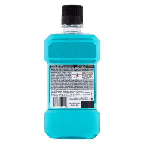 Enxaguante Bucal Antisséptico Hortelã Listerine Cool Mint Frasco Leve 500ml Pague 350ml