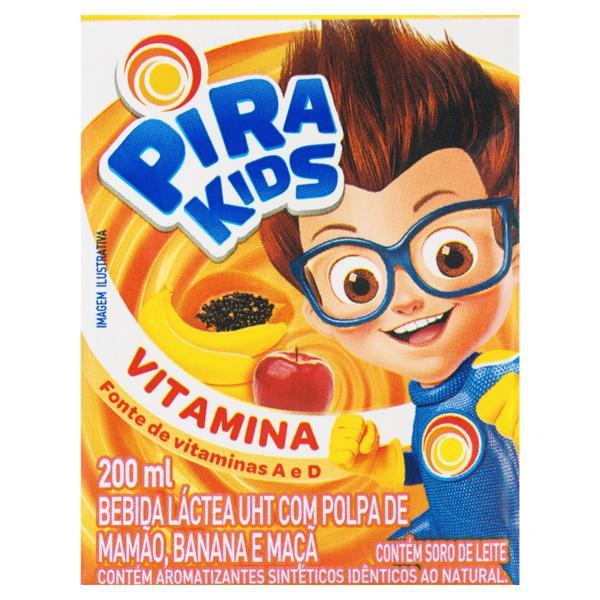 Bebida Láctea UHT Vitamina Piracanjuba Pirakids Caixa 200ml