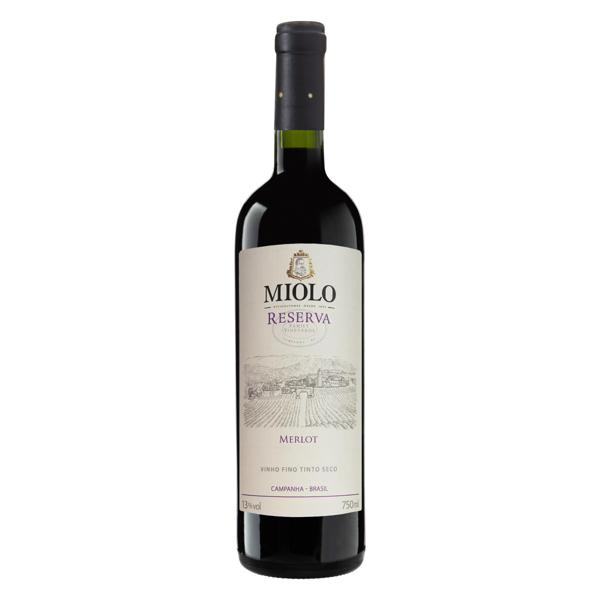Vinho Brasileiro Tinto Seco Reserva Miolo Merlot Campanha Garrafa 750ml
