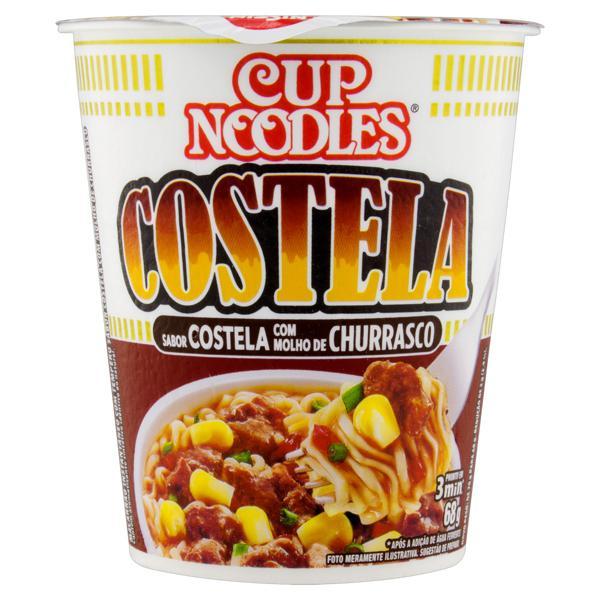 Macarrão Instantâneo Costela com Molho de Churrasco Nissin Cup Noodles Copo 68g