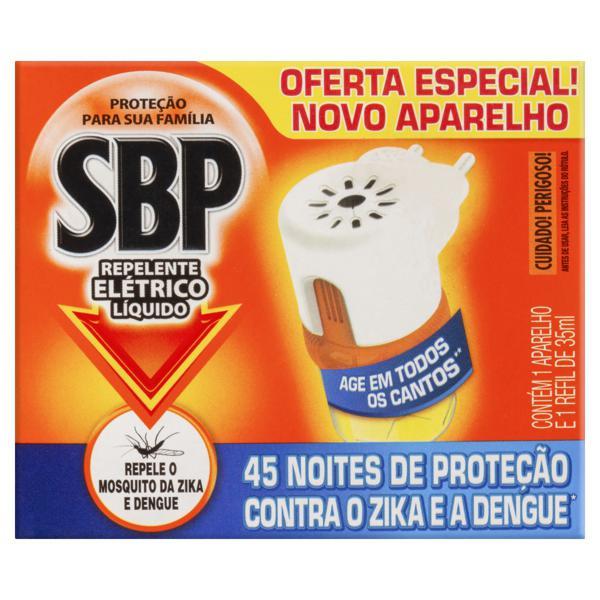 Kit Aparelho + Repelente Elétrico Líquido SBP 35ml Refil