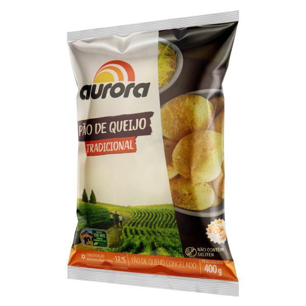 Pão de Queijo Congelado Tradicional Aurora Pacote 400g