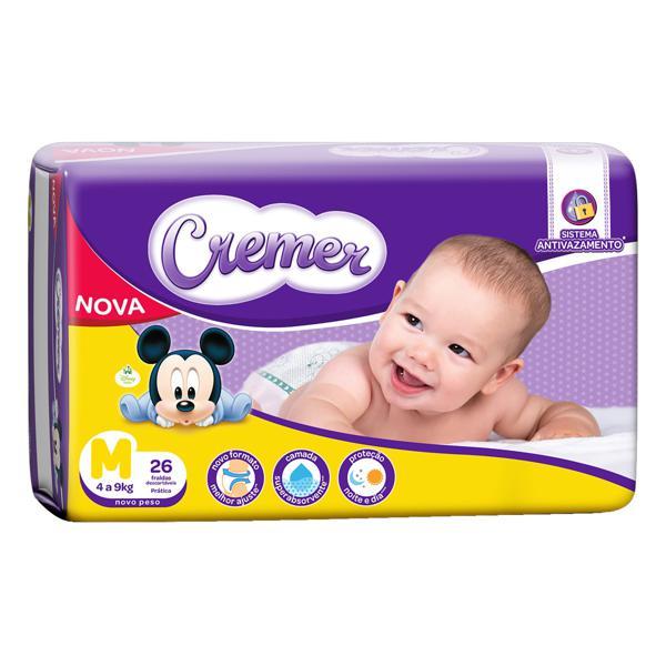 Fralda Descartável Infantil Cremer M Pacote 26 Unidades