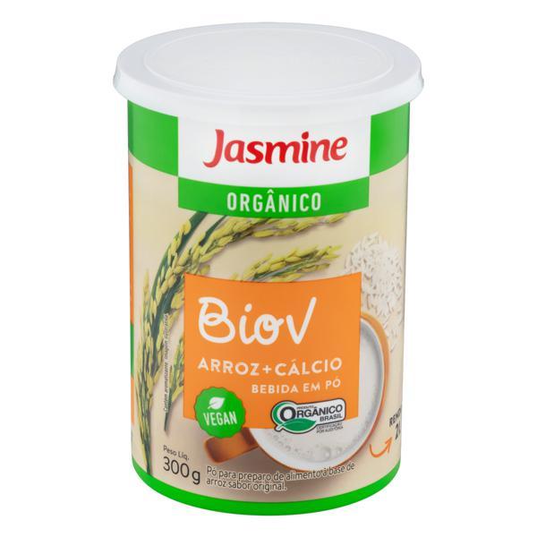 Alimento à Base de Arroz em Pó com Cálcio Orgânico Original Jasmine Biov Lata 300g