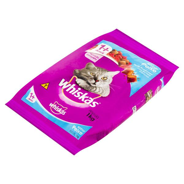 Alimento para Gatos Adultos 1+ Peixe Whiskas Pacote 1kg