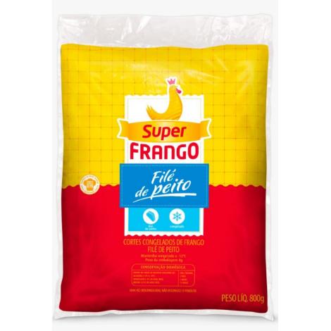 Filé De Peito Frango Super Frango 800G Congelado Pacote