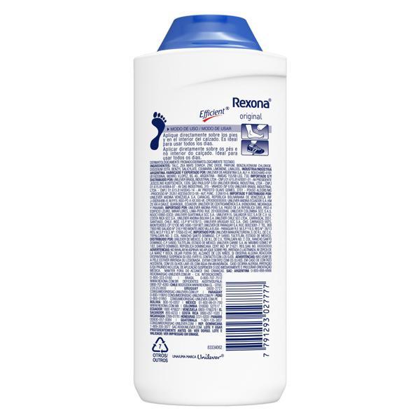Talco Desodorante para os Pés Original Rexona Efficient Frasco 100g