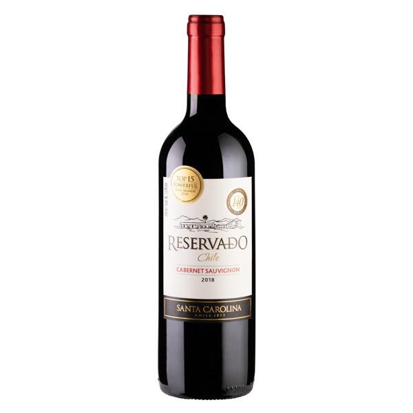 Vinho Chileno Tinto Meio Seco Reservado Santa Carolina Cabernet Sauvignon Valle Central Garrafa 750ml