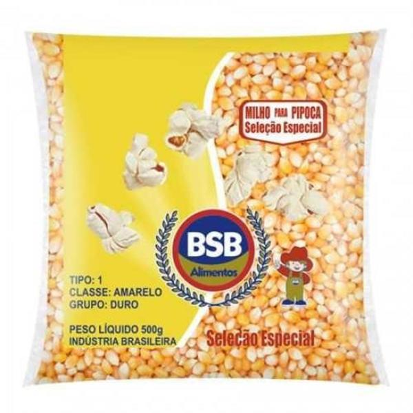 Milho de Pipoca BSB ALIMENTOS 500g