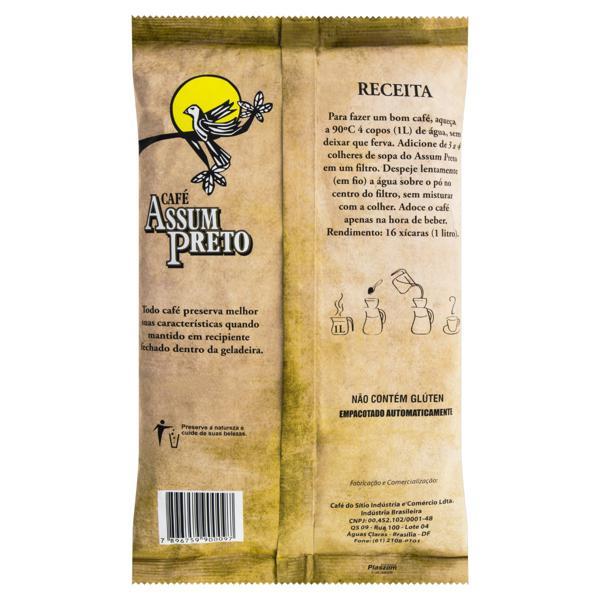Café Torrado e Moído Tradicional Café Assum Preto Pacote 500g