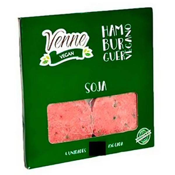 Hambúrguer Vegano de Soja 400g c/4 - Venne