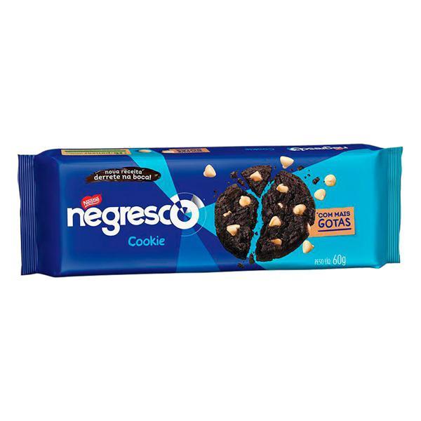 Biscoito Cookie Chocolate com Gotas de Baunilha Nestlé Negresco Pacote 60g