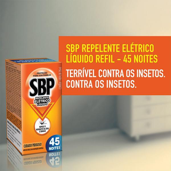 Repelente Elétrico Líquido SBP Caixa 35ml Cada Refil