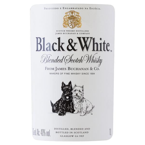 Whisky Escocês Blended Black & White Garrafa 1l