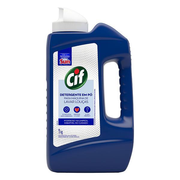 Detergente em Pó para Máquina de Lavar Louças Cif Frasco 1kg