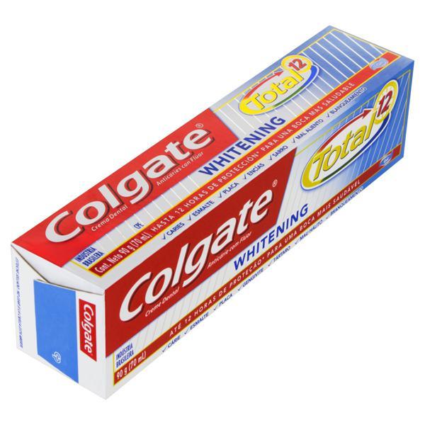 Creme Dental Whitening Colgate Total 12 Caixa 90g