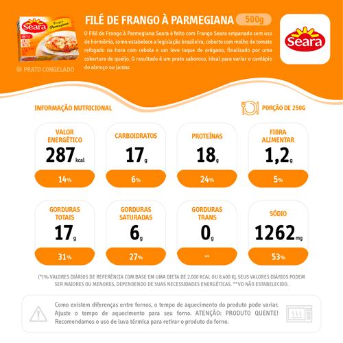 File De Frango 500G Seara Parmegiana