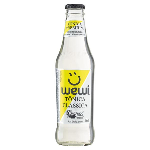 Água Tônica Clássica Orgânica Zero Sódio Wewi Premium Garrafa 255ml