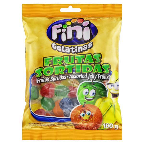 Bala de Gelatina Frutas Sortidas Fini Pacote 100g