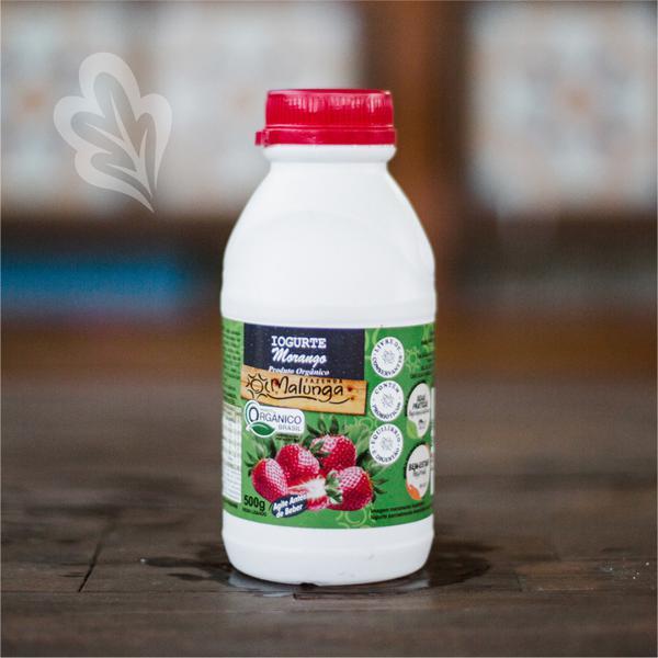 Iogurte de Morango Orgânico 500ml