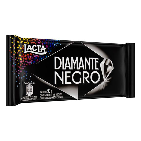 Chocolate ao Leite Lacta Diamante Negro Pacote 90g