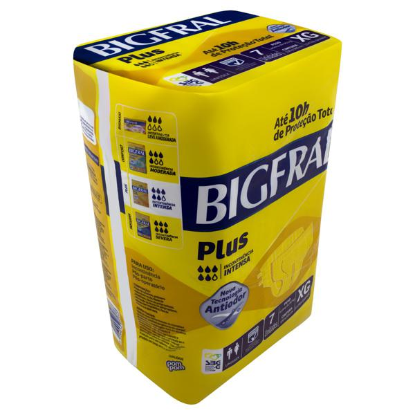 Fralda Descartável Adulto Bigfral Plus XG Pacote 7 Unidades