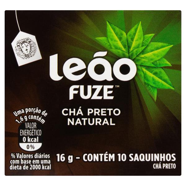 Chá Preto Natural Leão Fuze 16g 10 Unidades