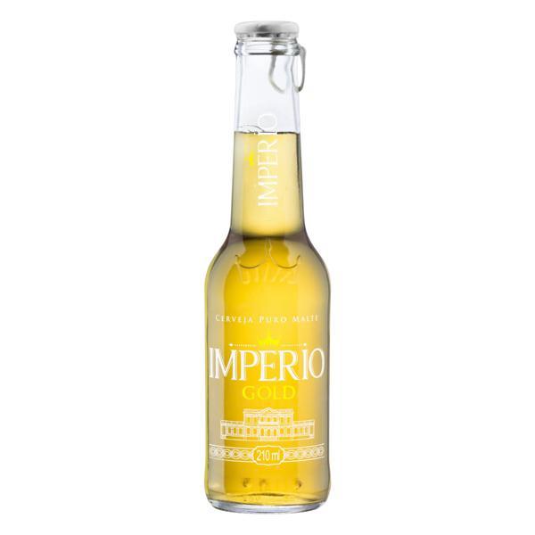 Cerveja Pilsen Puro Malte Gold Império Garrafa 210ml